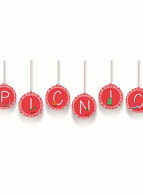 Jollyjoy PICNIC DECORATIVE BANNER