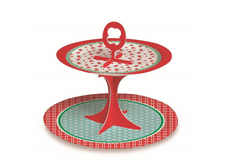 PICNIC CUPCAKE/SWEET STAND 2T
