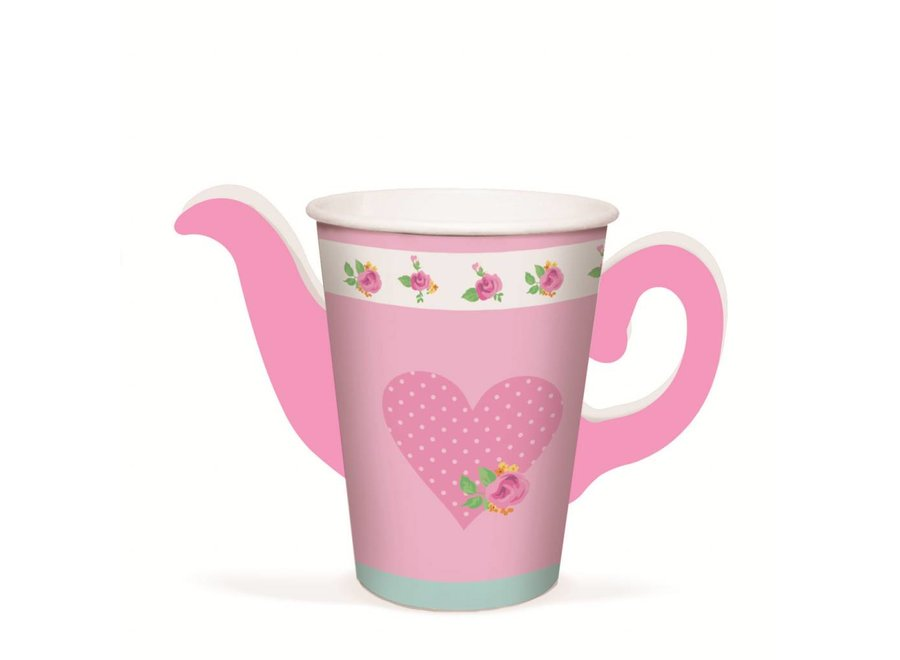 GIRLS TEA TEAPOT PAPER CUPS