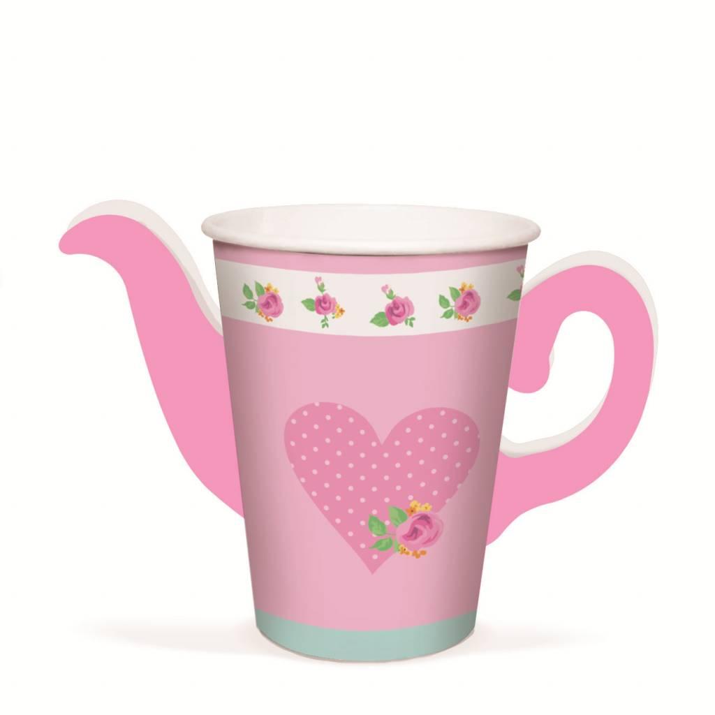 Jollyjoy GIRLS TEA TEAPOT PAPER CUPS