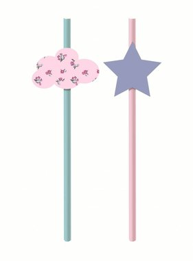 Jollyjoy DREAM PARTY PAPER STRAWS W/ EMBELLISHMENT
