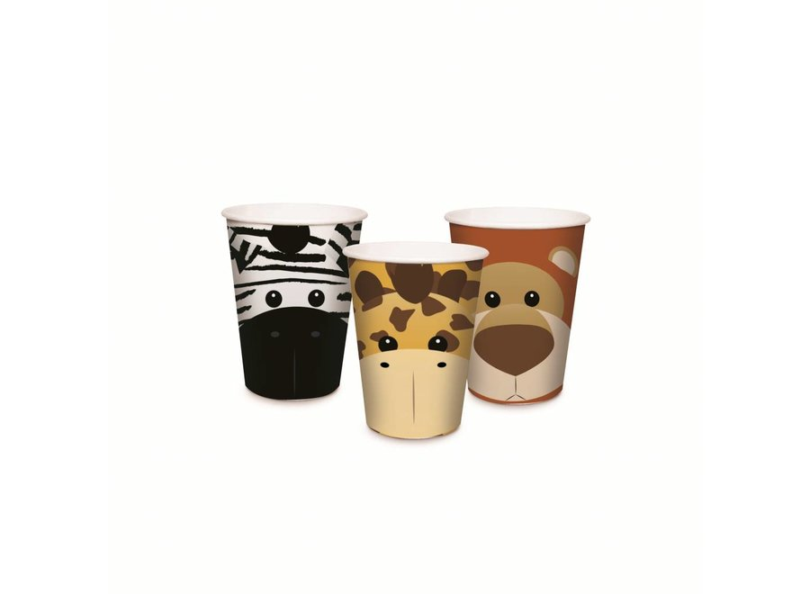 SAFARI PAPER CUPS ASSORTED