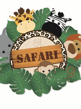 Jollyjoy SAFARI 4-PIECE GIANT POSTER