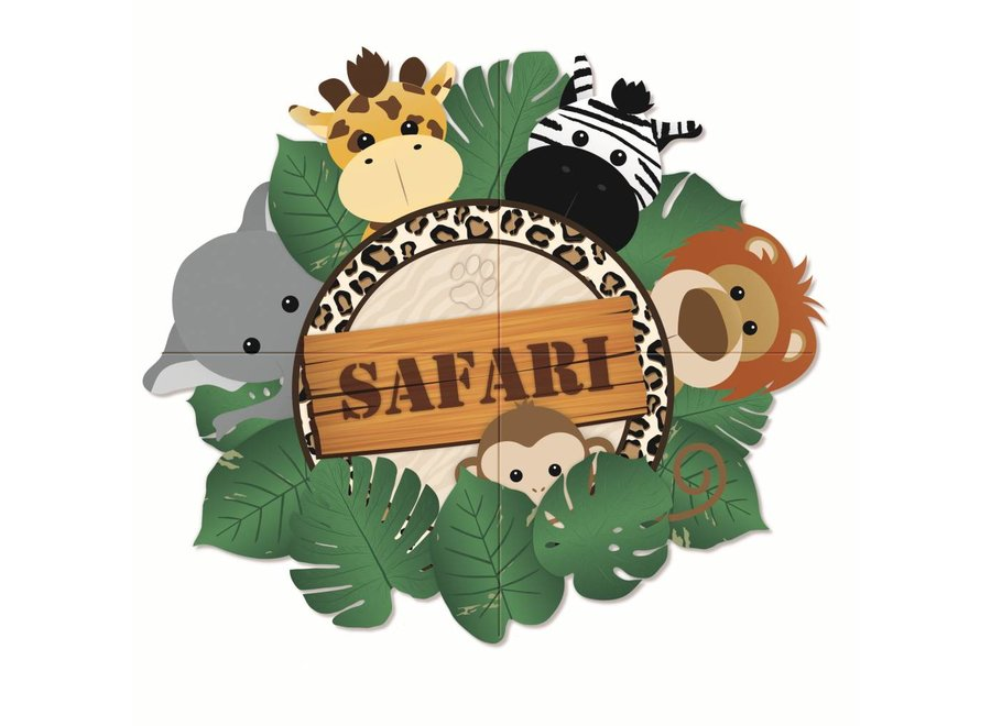 SAFARI 4-PIECE GIANT POSTER