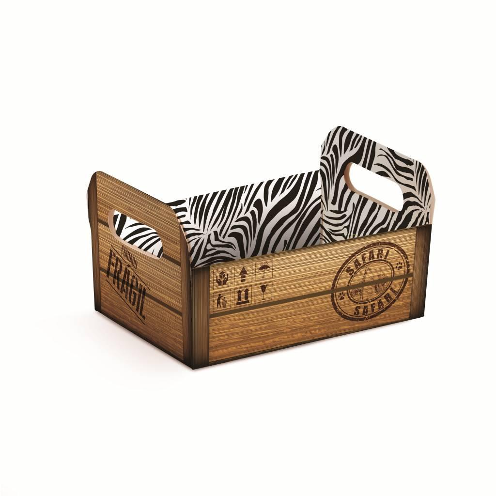 Groot Bestek Voor Aan Muur.Kartonnen Krat Voor Muur Safari Groot Jollyjoy