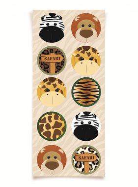 Jollyjoy SAFARI ROUND STICKER