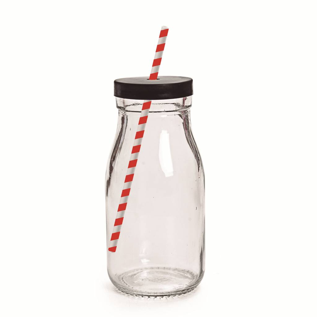 Jollyjoy BLACK LID MILK BOTTLE