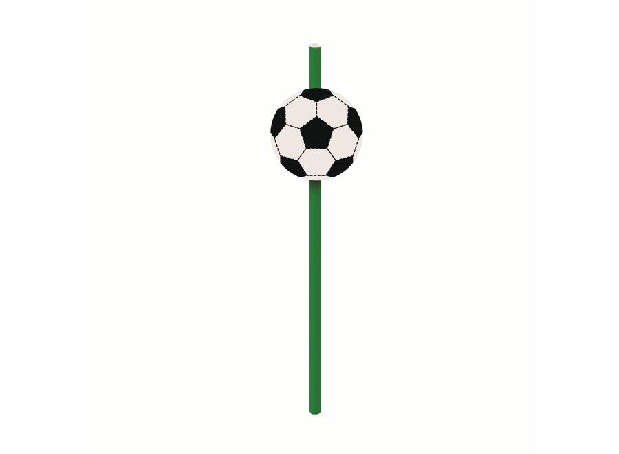 FOOTBALL PAPER STRAWS W/ EMBELLISHMENTS