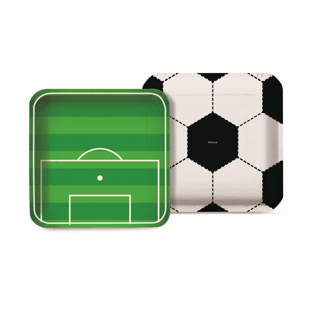 Jollyjoy FOOTBALL SQUARE PLATE