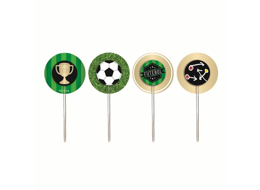 FOOTBALL CUPCAKE WRAPS & PICKS