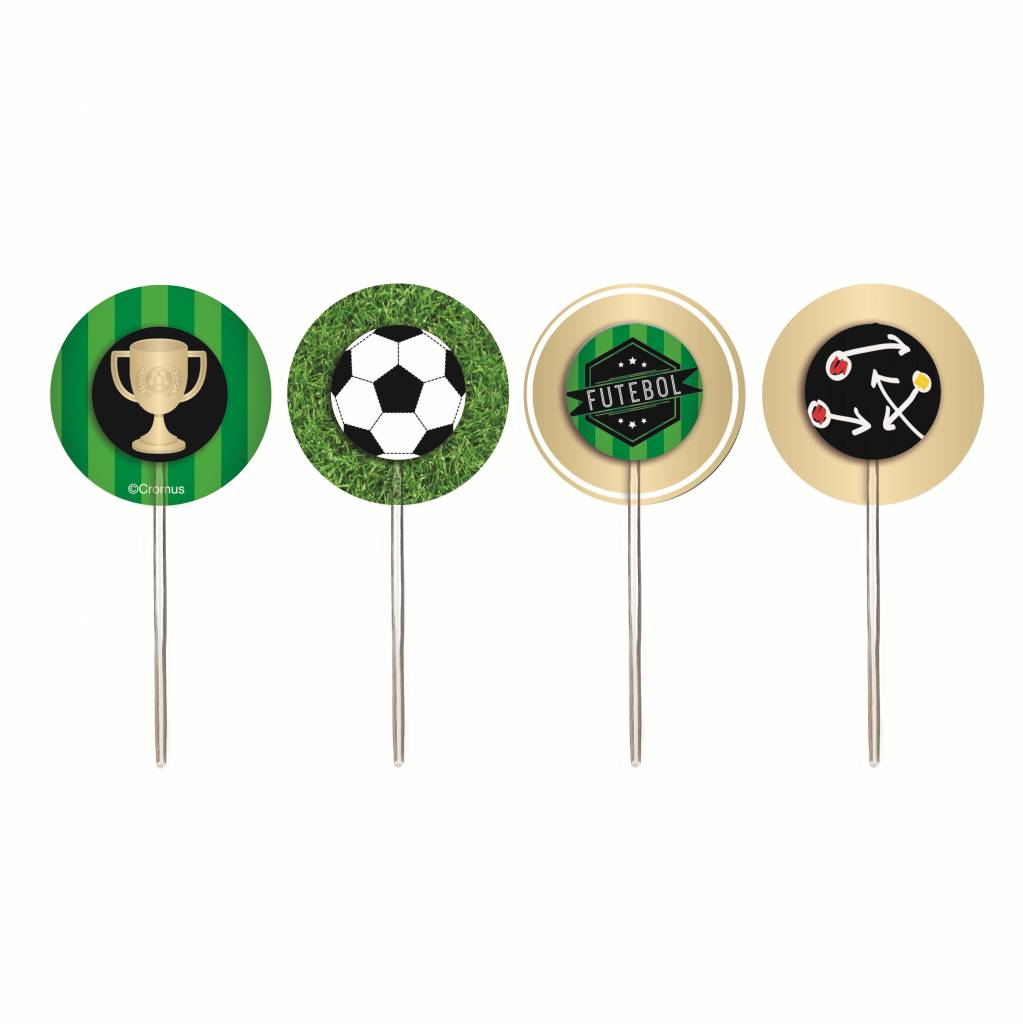 Jollyjoy FOOTBALL CUPCAKE WRAPS & PICKS