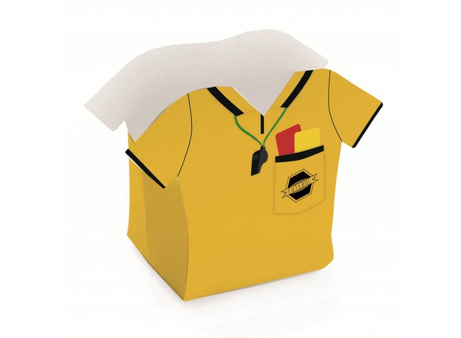 FOOTBALL REFEREE SHIRT BASKET BOX