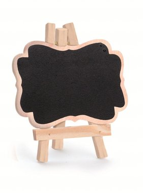 Jollyjoy NATURAL MINI EASLE W/ CHALKBOARD AND DECORATED RIM