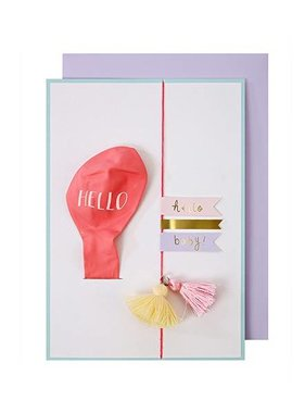 Meri Meri HELLO PINK BALLOON CARD