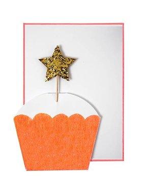 Meri Meri CUPCAKE WITH STAR CARD