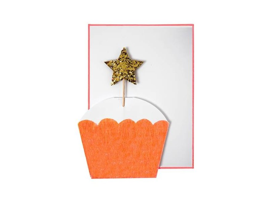 CUPCAKE WITH STAR CARD