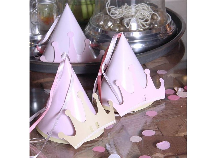 6 PRINCESS KINGDOM PARTY HAT WITH EMBELLISHMENTS
