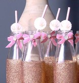 Jollyjoy PAPER STRAWS W/ PRINCESS KINGDOM EMBELLISHMENT