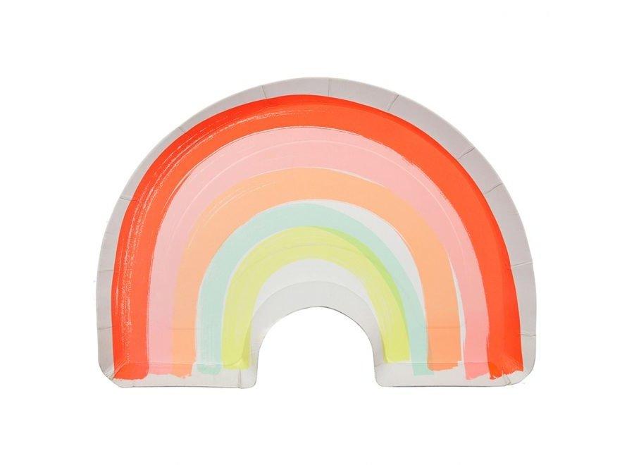Neon rainbow plates