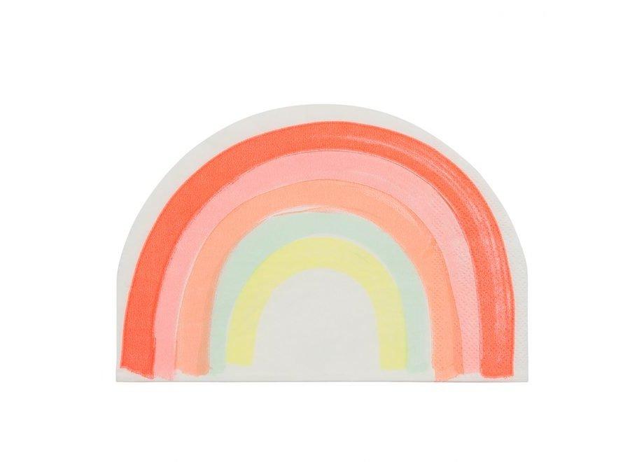 Neon regenboog servetten