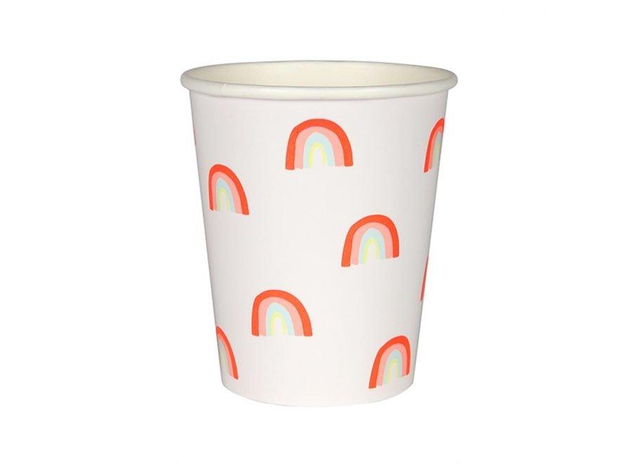 Neon rainbow cups