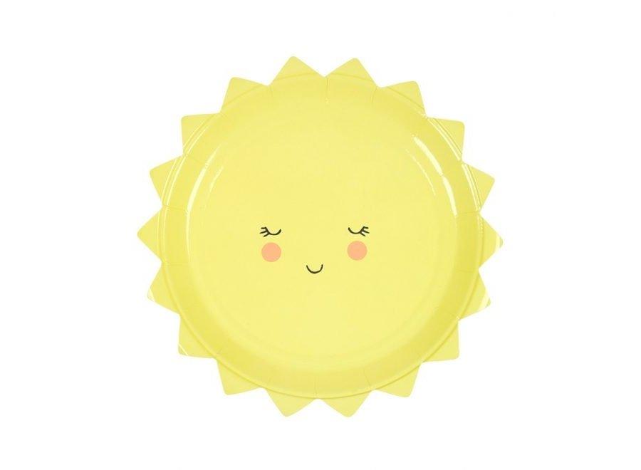 Gelukkige zon-borden