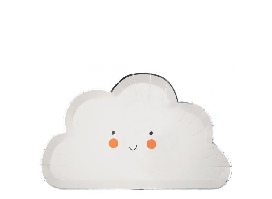 Prato Nuvem feliz