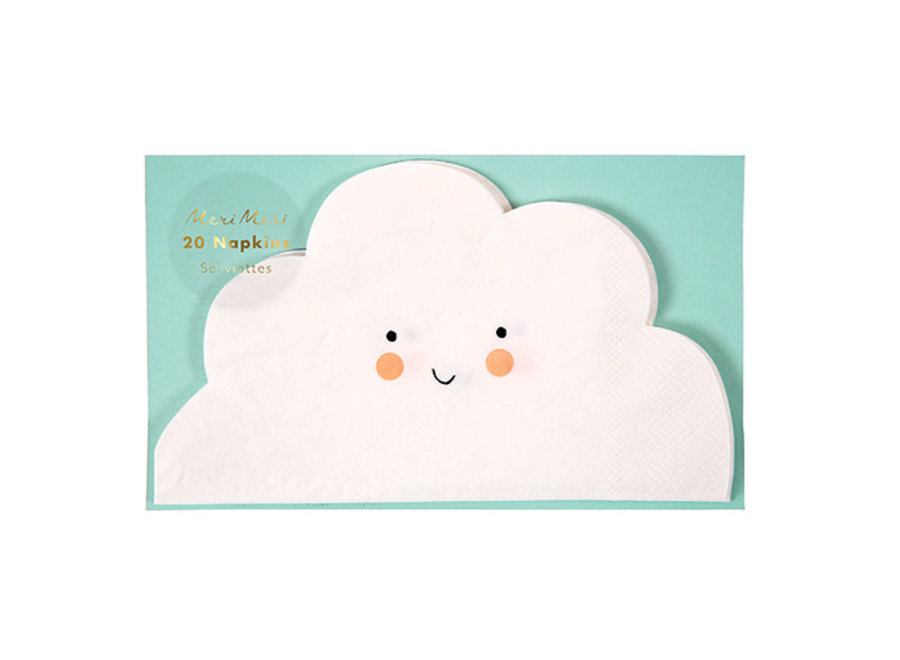Gelukkige wolk-servetten