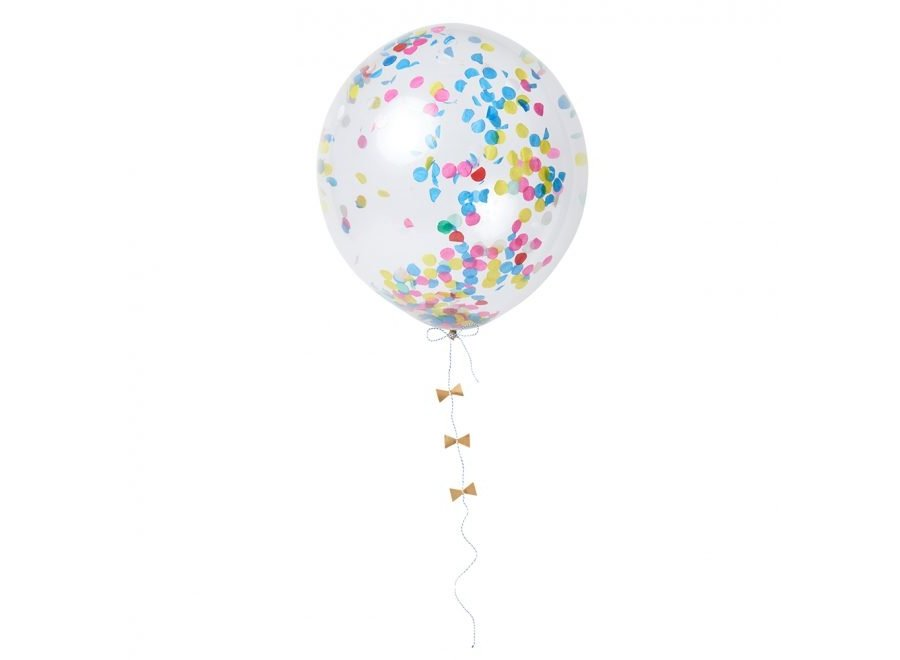 Bright confetti balloons
