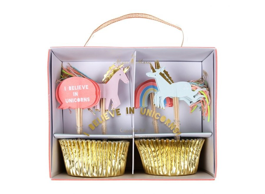 Eenhoorn cupcake-kit