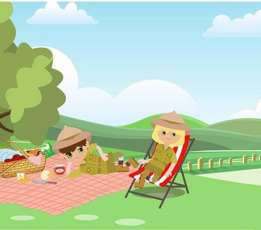 Picknick Kinderfeestje | Rode feestartikelen | Salontafel decoratie | Feestartikelen bestellen