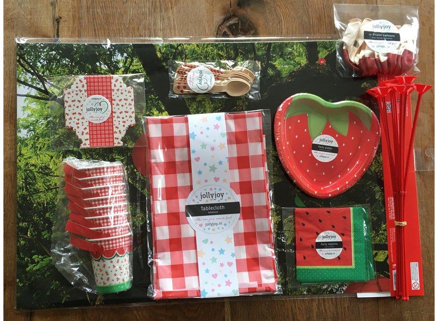 Picknick Luxe Feestpakket voor 8 of 10 personen OP=OP
