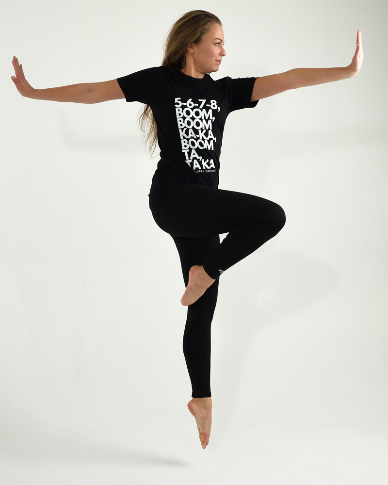 Dance T-shirt Casual  5678 Boom - black-2