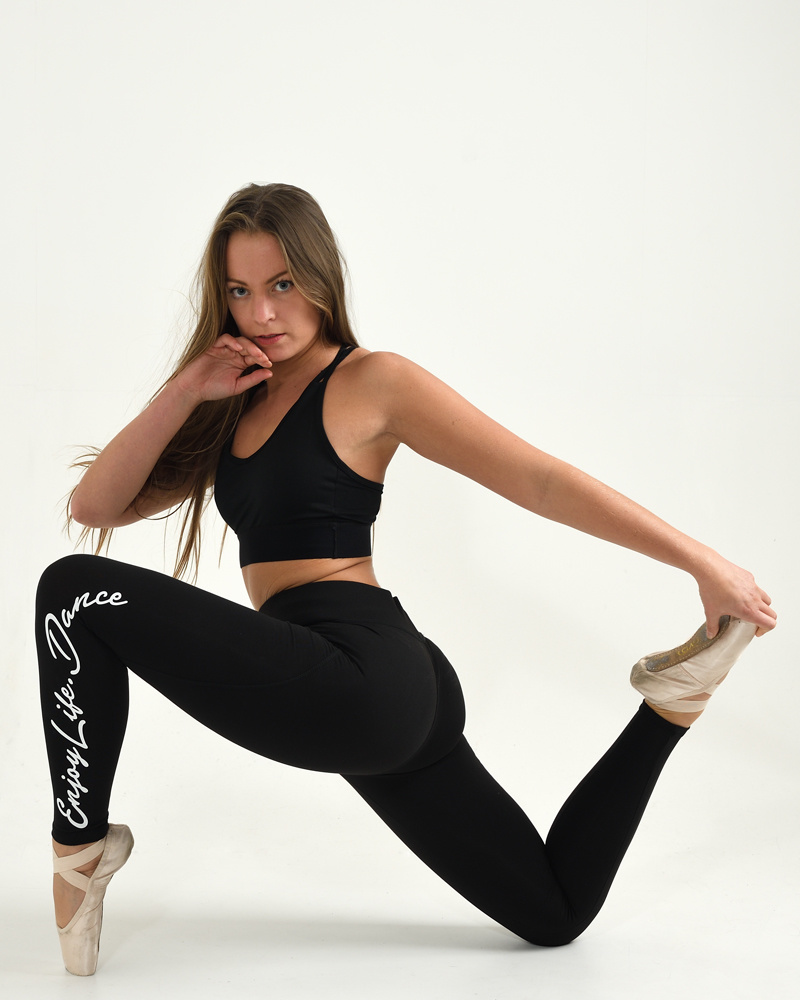 Dance Legging High Waisted Enjoy Life - black-5