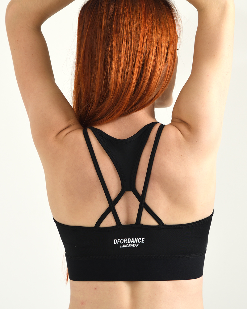 Dance Bra Criss Cross - black-3