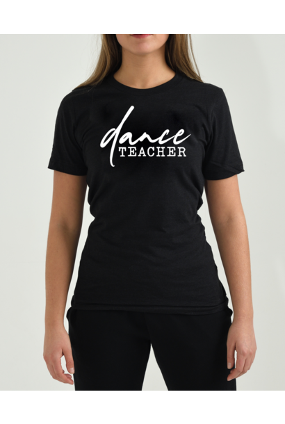 Dance T-shirt Casual Dance Teacher - black