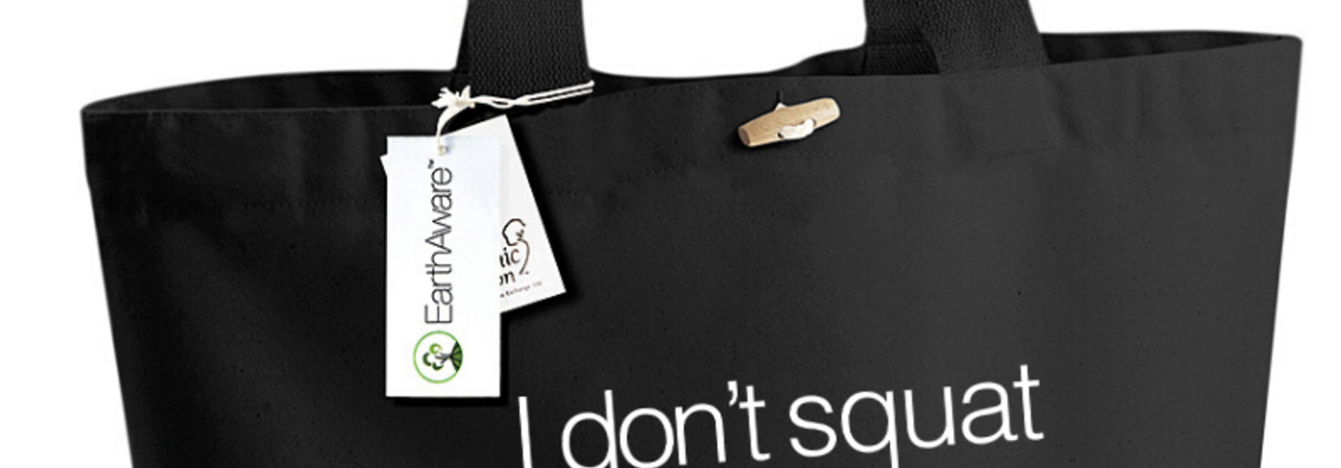 Dans Tas Eco I Don't Squat - zwart