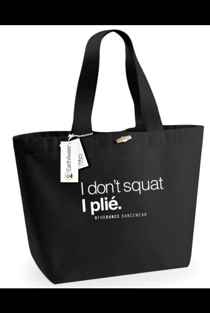 DAGDEAL: Eco big shopper I don't squat zwart + gratis verzending