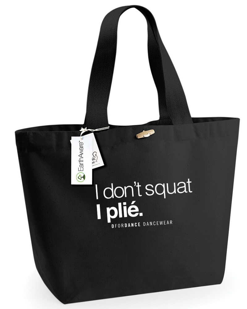 Dans Tas Eco I Don't Squat - zwart-1