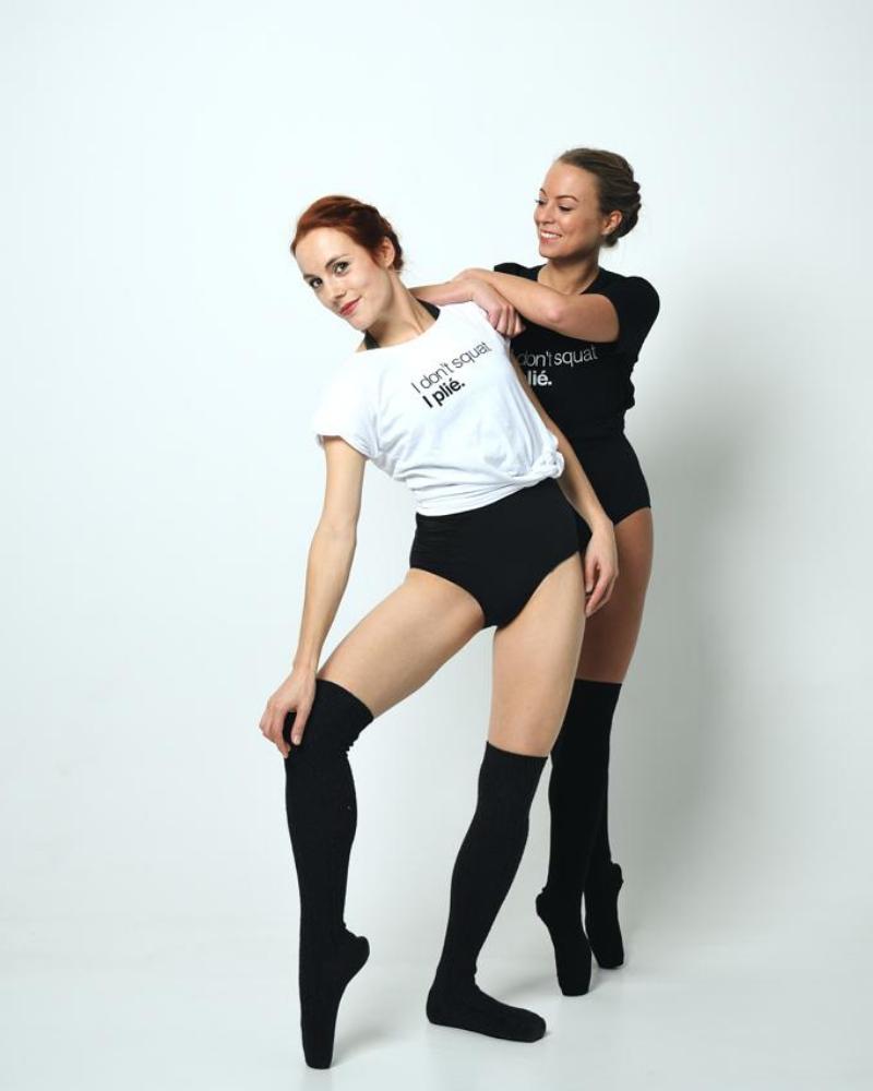 Dans Shirt Casual I Don't Squat I Plié - zwart-4