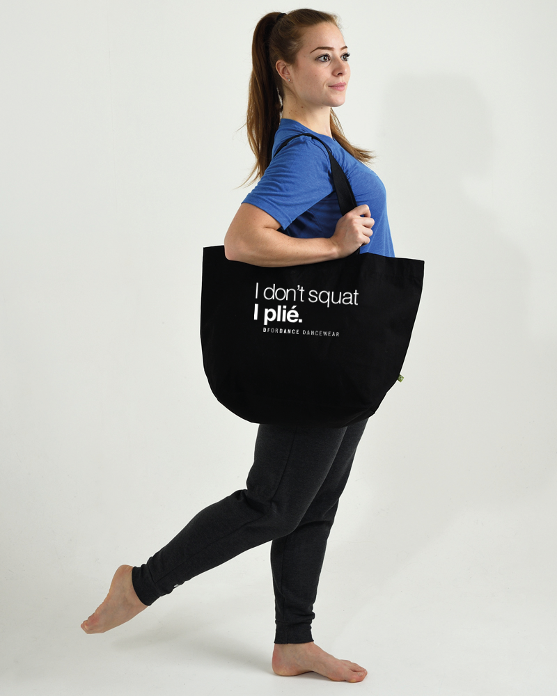 Dans Tas Eco I Don't Squat - zwart-2
