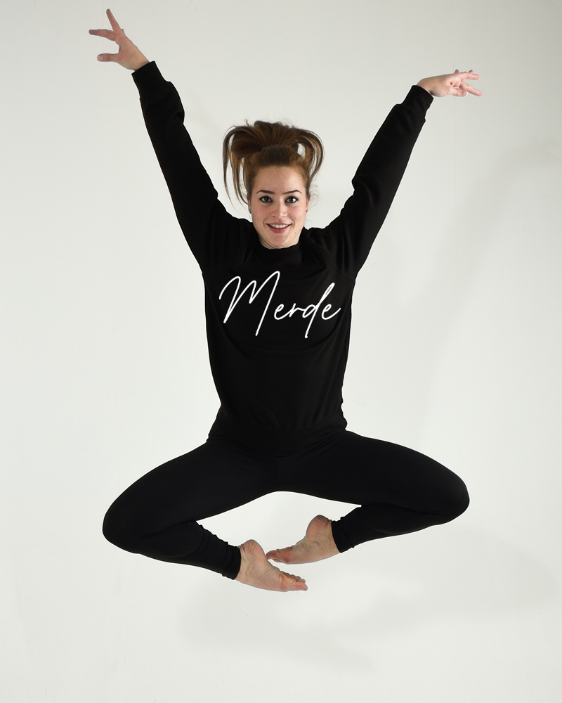 Dance Sweater Comfort Merde - black-1