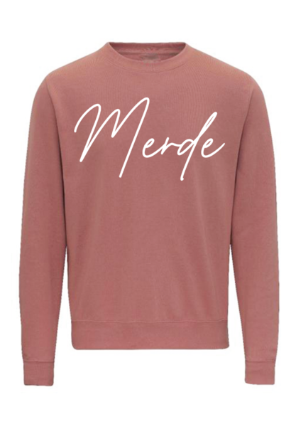 DEAL OF THE DAY: Sweater Merde dusty pink + free shipping (code DAYDEAL)