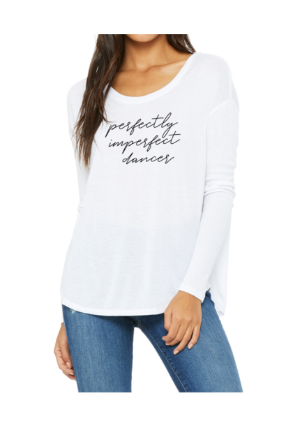 Flowy luxe longsleeve Perfectly Imperfect Dancer - white