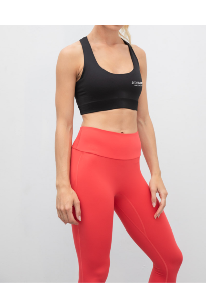 High waisted core dance legging - coral