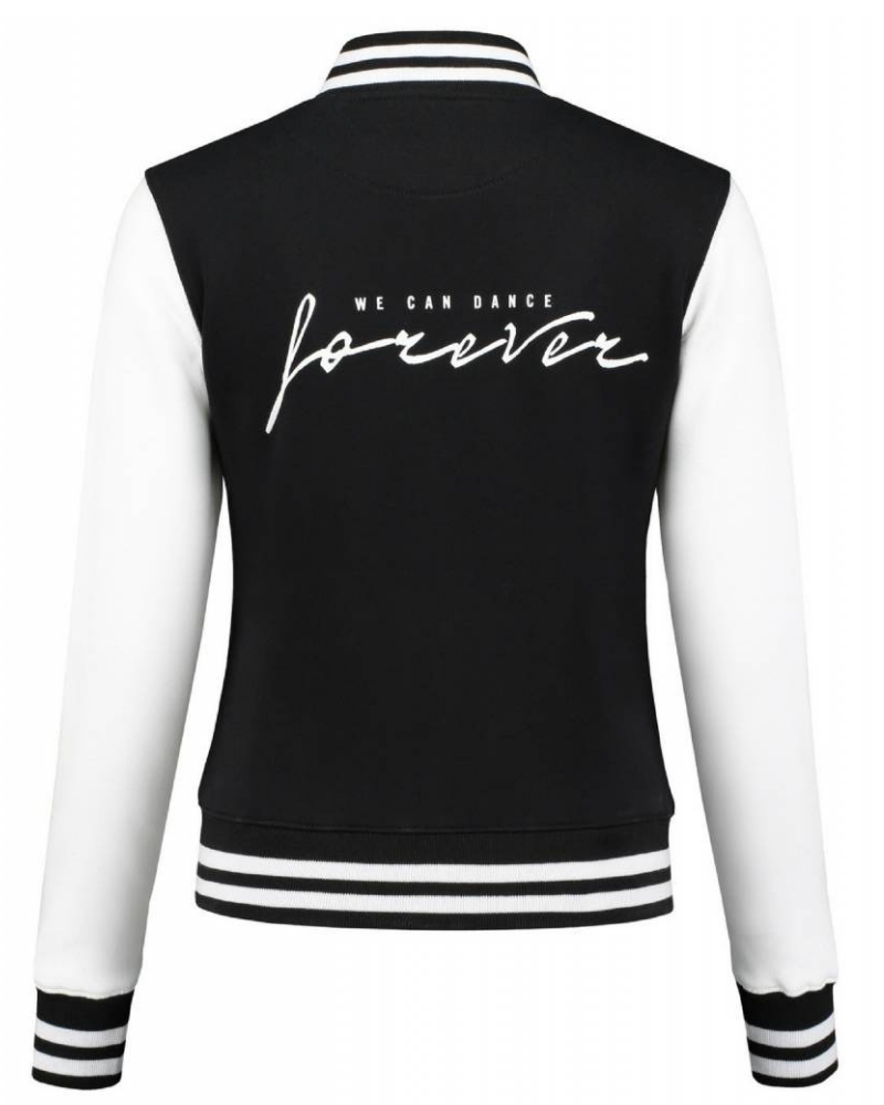 Retro jacket We can dance forever - black & white-3