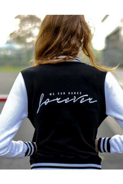 Retro jacket We can dance forever - black & white