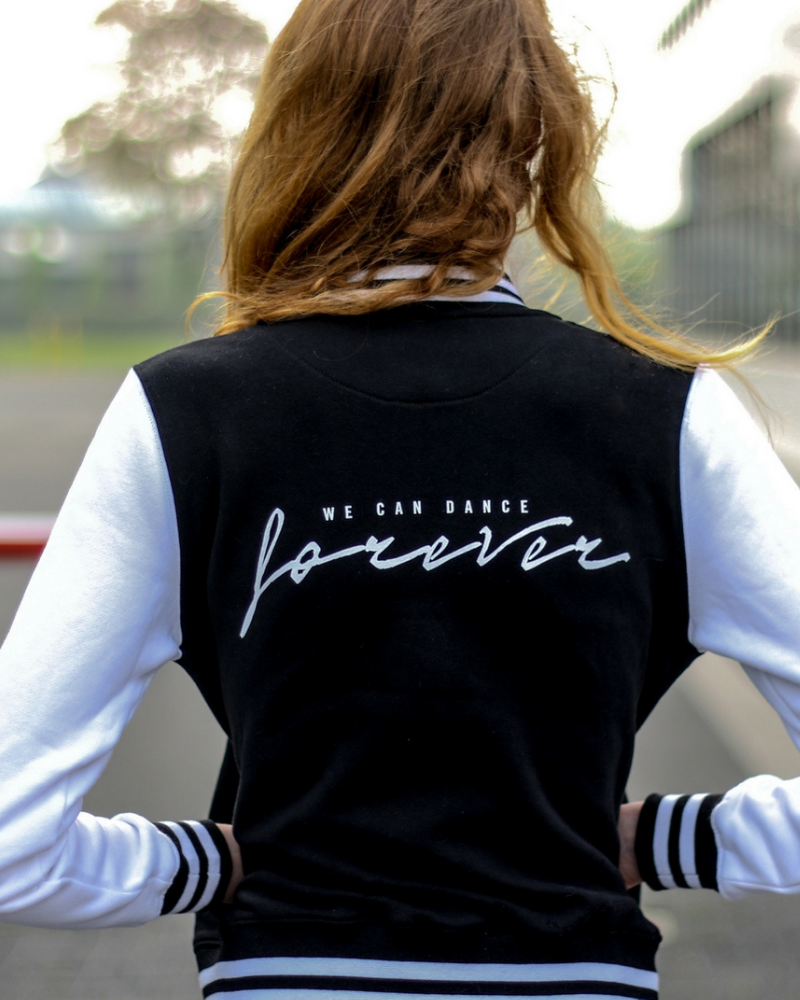 Retro jacket We can dance forever - black & white-1