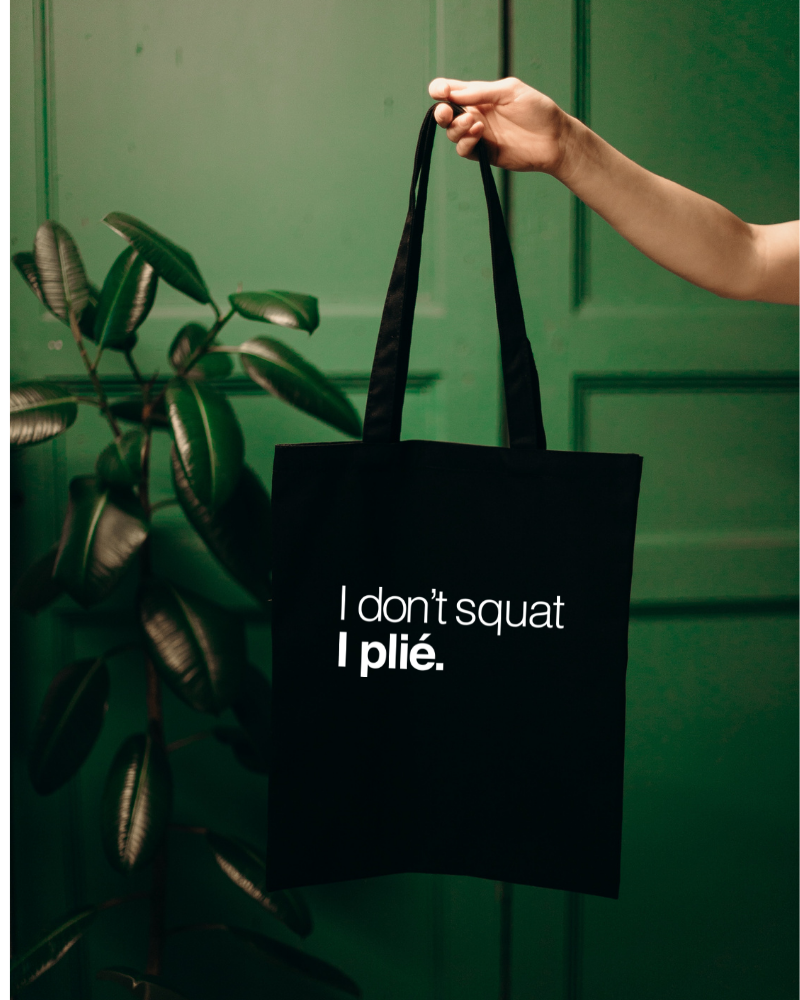 Shopper I Don't Squat I Plié - zwart-1