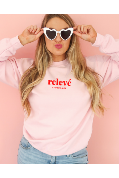 Loose fit sweater Relevé - soft pink